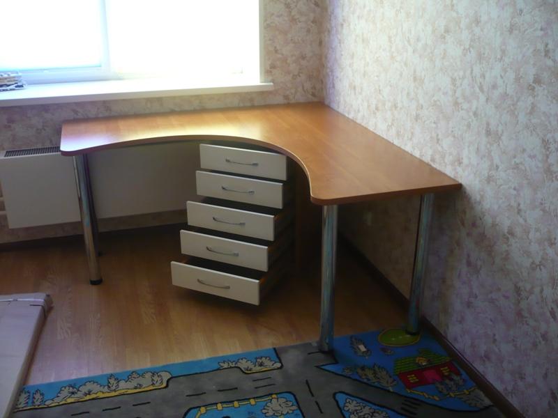 стол угловой с тумбой рабочий письменный компьютерный стол для двоих