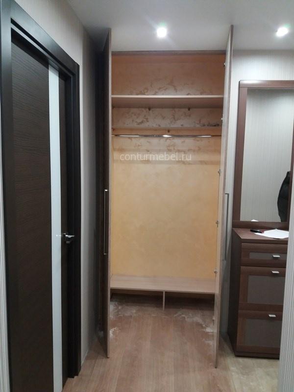 Встроенный шкаф для верхней одежды обуви и с большой антресолью.