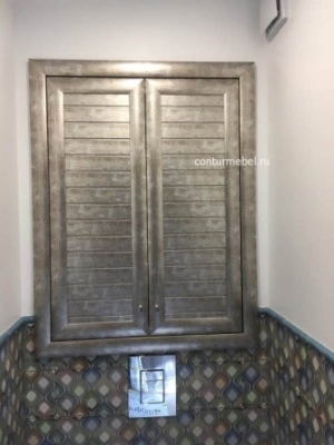 Реечный фасад для сантех шкафа