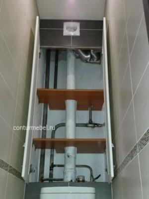Двери в туалет реечные  из МДФ